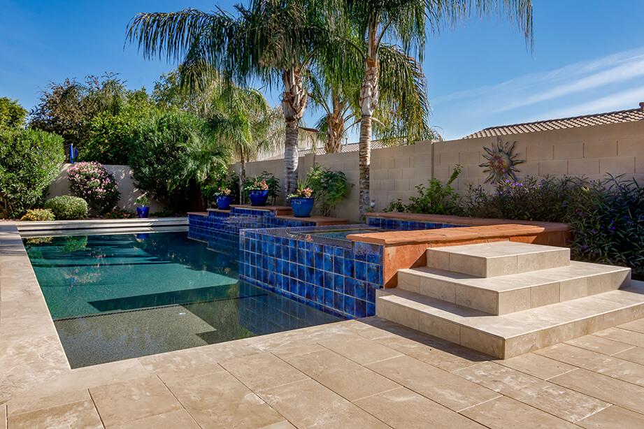 chandler travertine paver pool deck