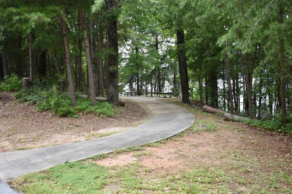 Duckett Mill Campground Paved Walkway