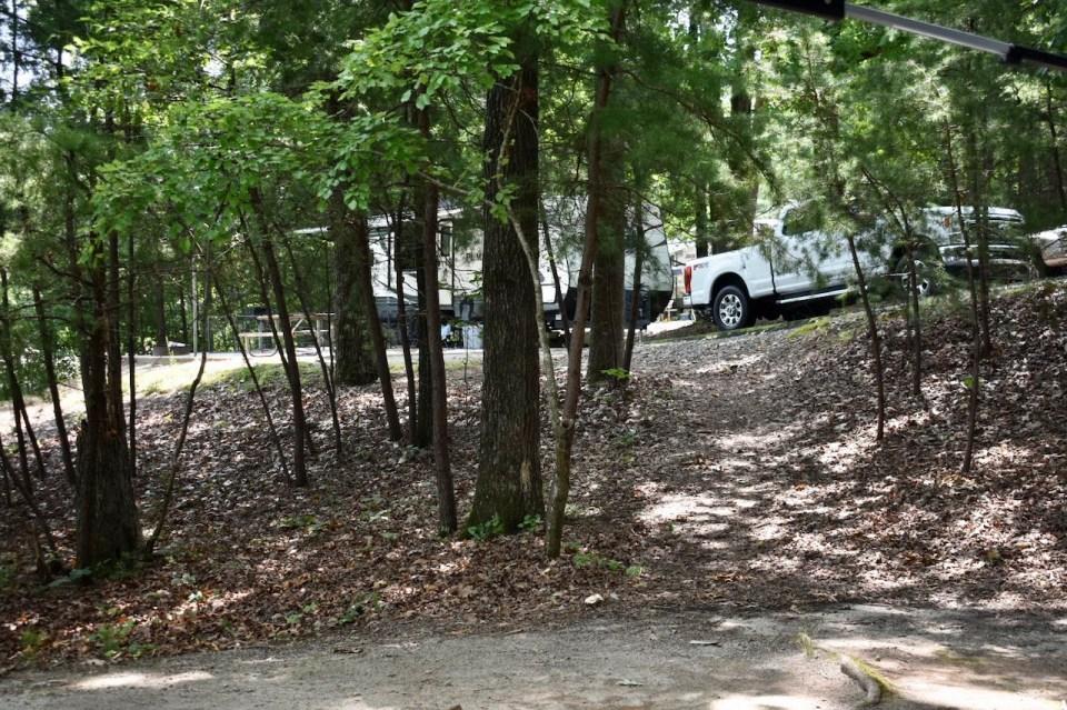 Duckett Mill Campground site 2