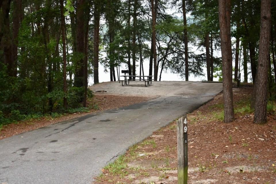 Site 49 Duckett Mill Campground