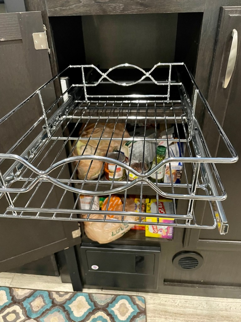 Wire pull out drawer Grand Design Camper