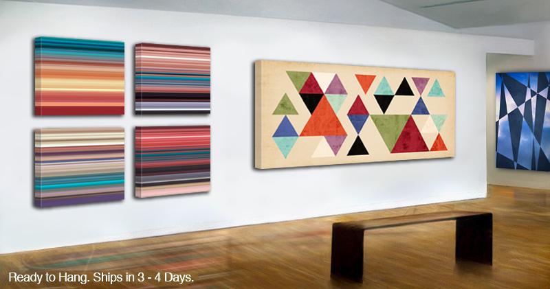 modern art on canvas