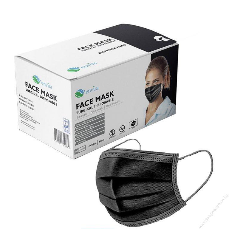 Black 3 Ply Mask