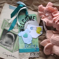 Welcome Little Ones with Radiant Neon Wintergreen Tag