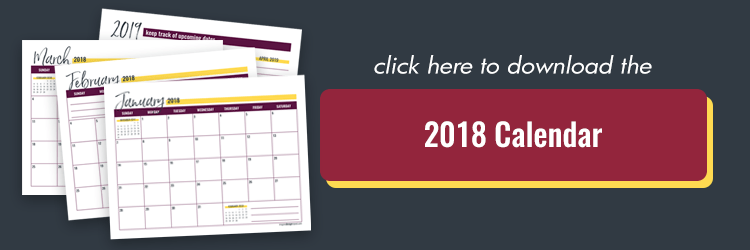 Get a free 2018 calendar and learn my go-to method to plan each quarter. Beat back overwhelm and get stuff done!