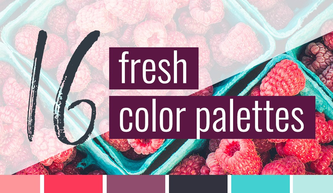 16 Fresh Color Palettes for Your Next Project