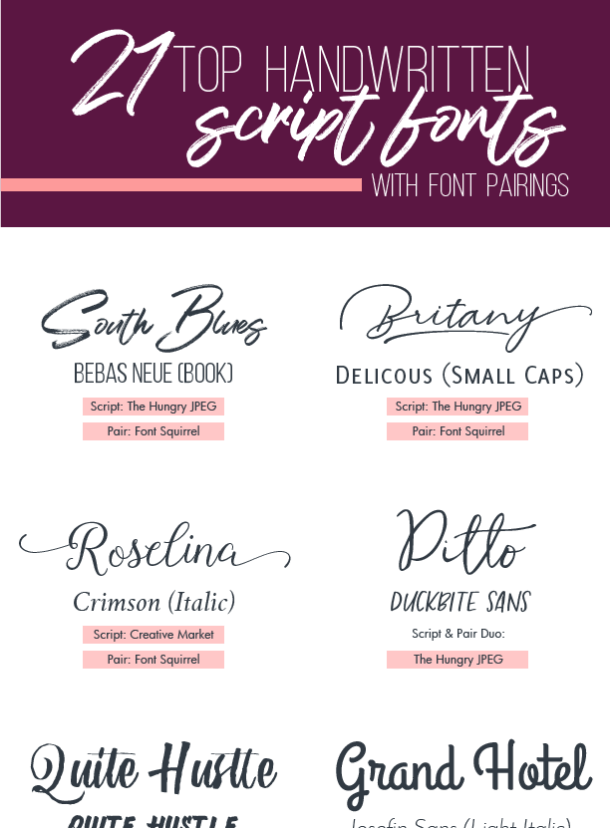Handwritten script fonts are a huge trend, and I'm a fan. Here are some tips to pick the right font for your next design.