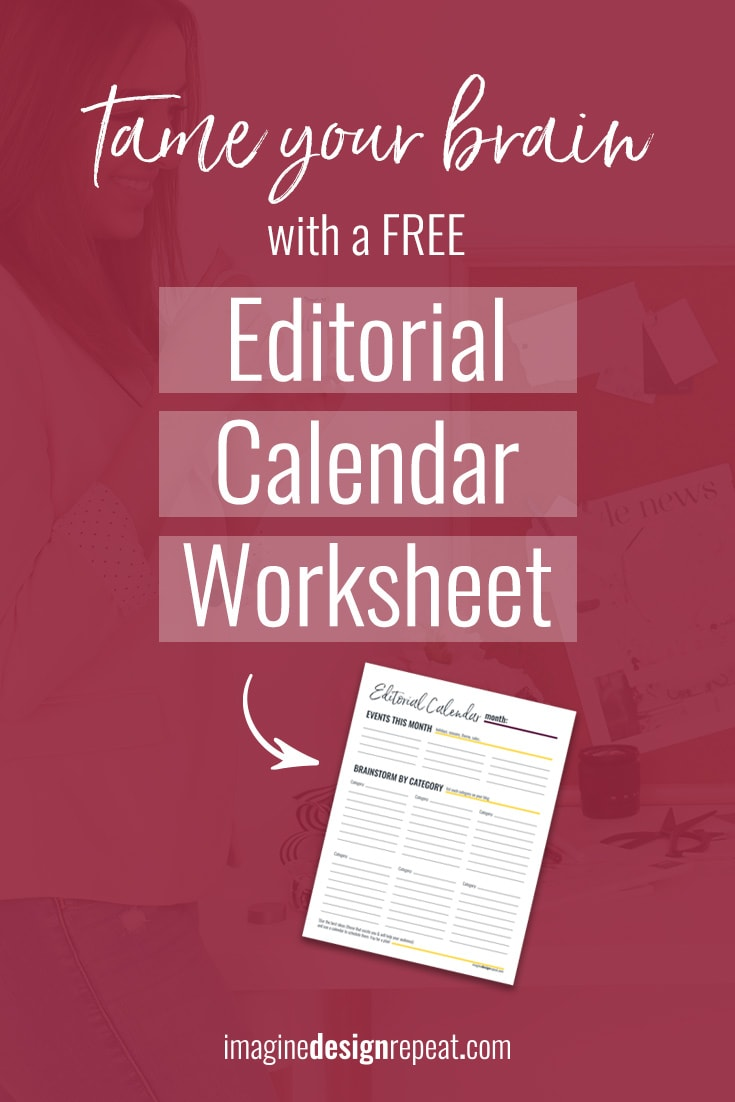 Tired of keeping blog post ideas on sticky notes? I'm sharing a FREE editorial calendar worksheet to power your next brainstorming session!