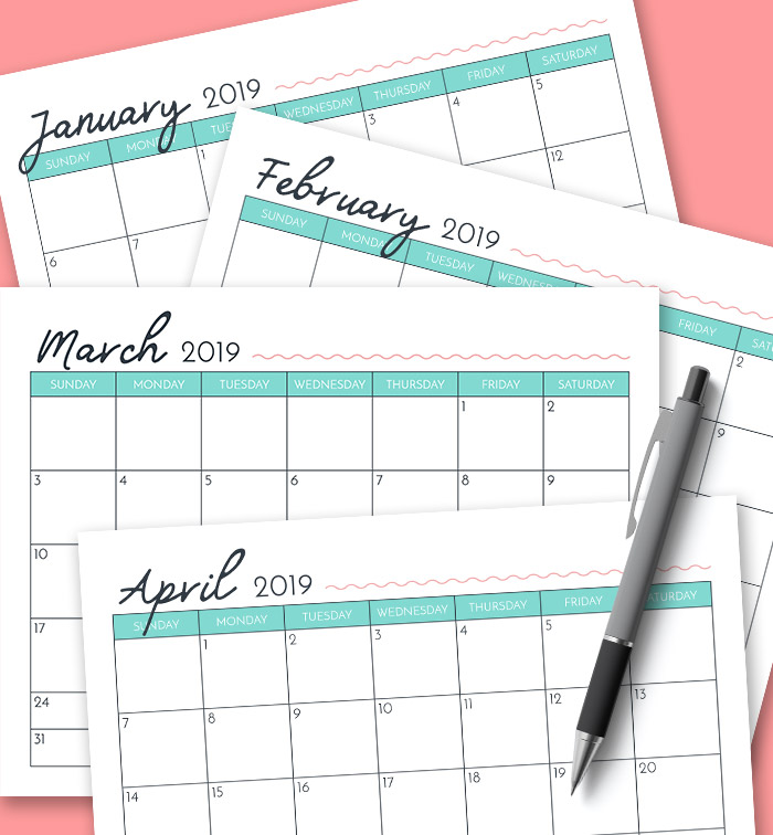 Are you a calendar person? I'm sharing my free printable 2019 calendar today – come grab your copy and get the new year off to a great start!