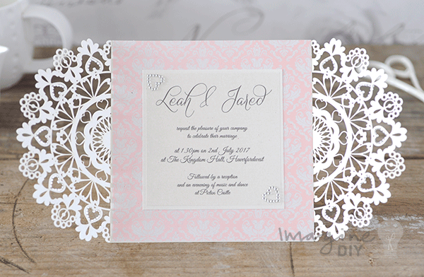 Heart Wedding Invitations Uk: How To Make- Arabesque Laser Cut Invitation