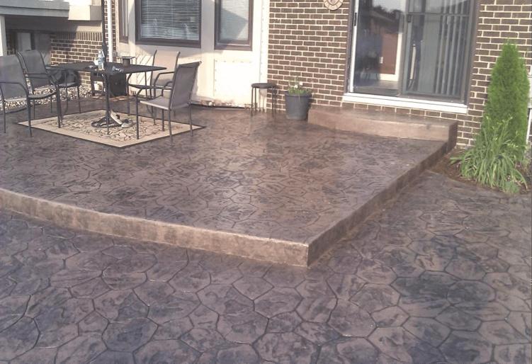 stamped concrete vs interlock pavers