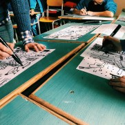 Collaborative Drawing Workshop led by Lisa Iglesias at the Gozo Middle School