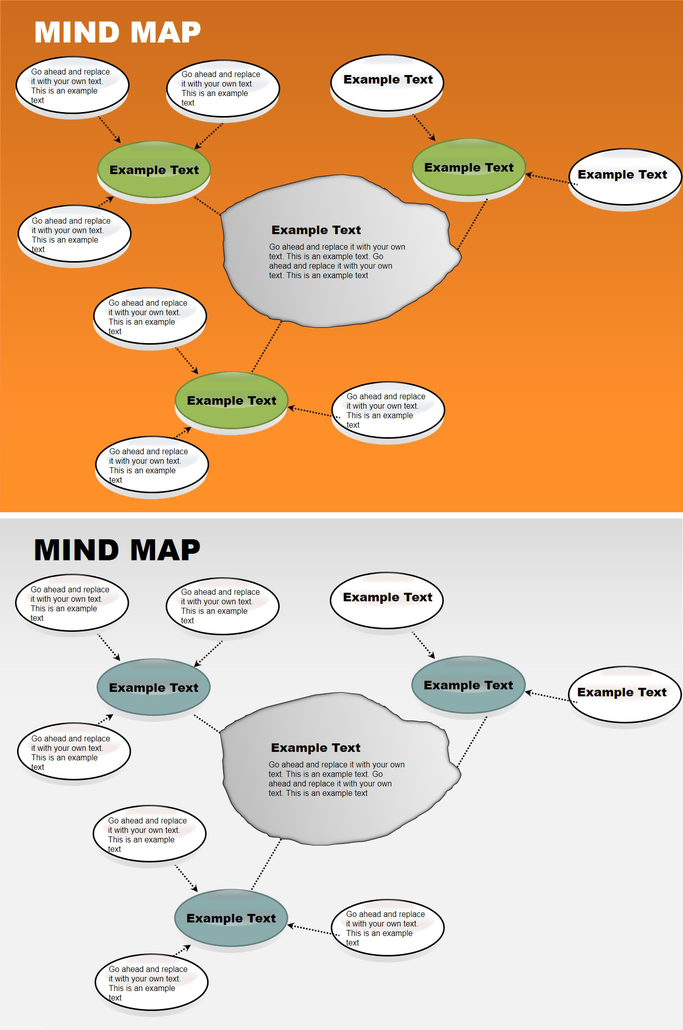Mind Map Free PowerPoint Charts ImagineLayout Com