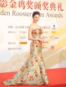 Liu Yu Xin donned a gorgeous mermaid floral gown