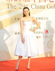 """Song Jia """"too"""" dressed down for the red carpet."""