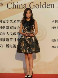 Zhao Wei went for a short printed dress
