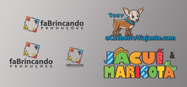 design gráfico e logomarcas da faBrincando Produções