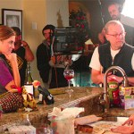 Jim Ohm with Georgia Lyman & Cindy Lentol in the kitchen scene in PRETEND. Photo by Donna Megquier