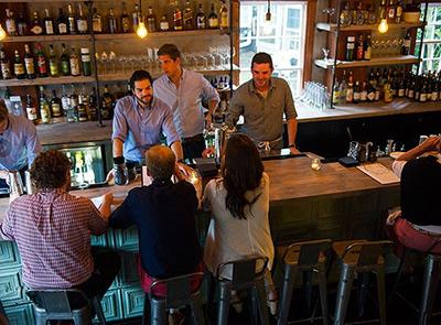 the bar at The Proprietors