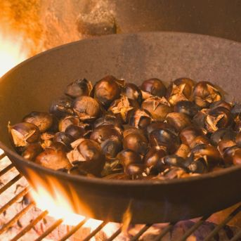 roast some chestnuts on an open fire is a fun thing to do this christmas