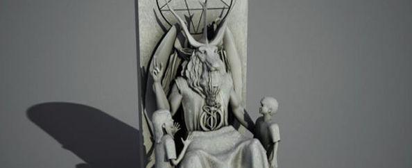 Iata si prima poza cu statuia Templului Satanic, amplasata in Oklahoma