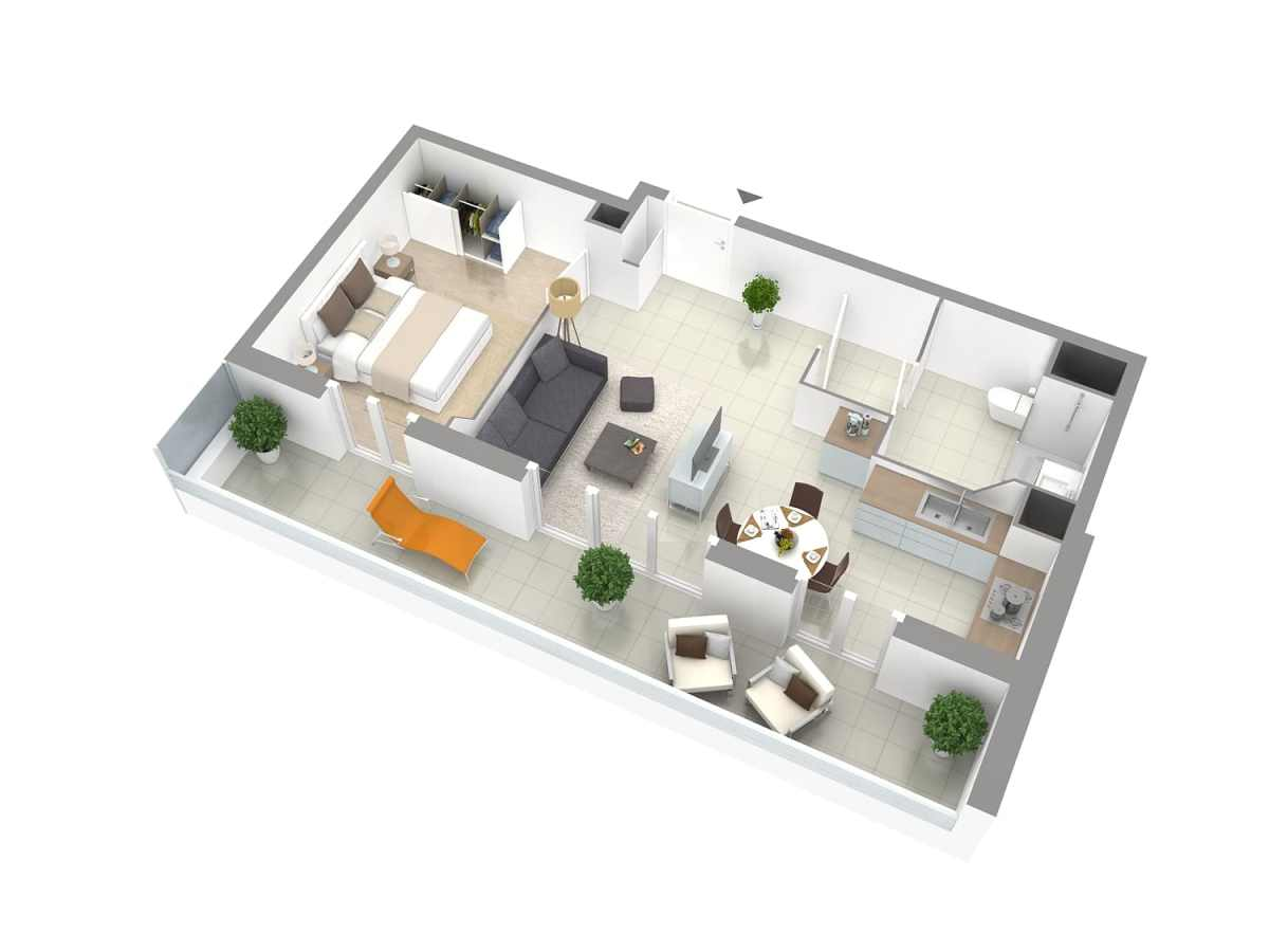 Galerie Plans 3D VEFA 6