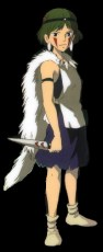 Princess Mononoke in the anime.