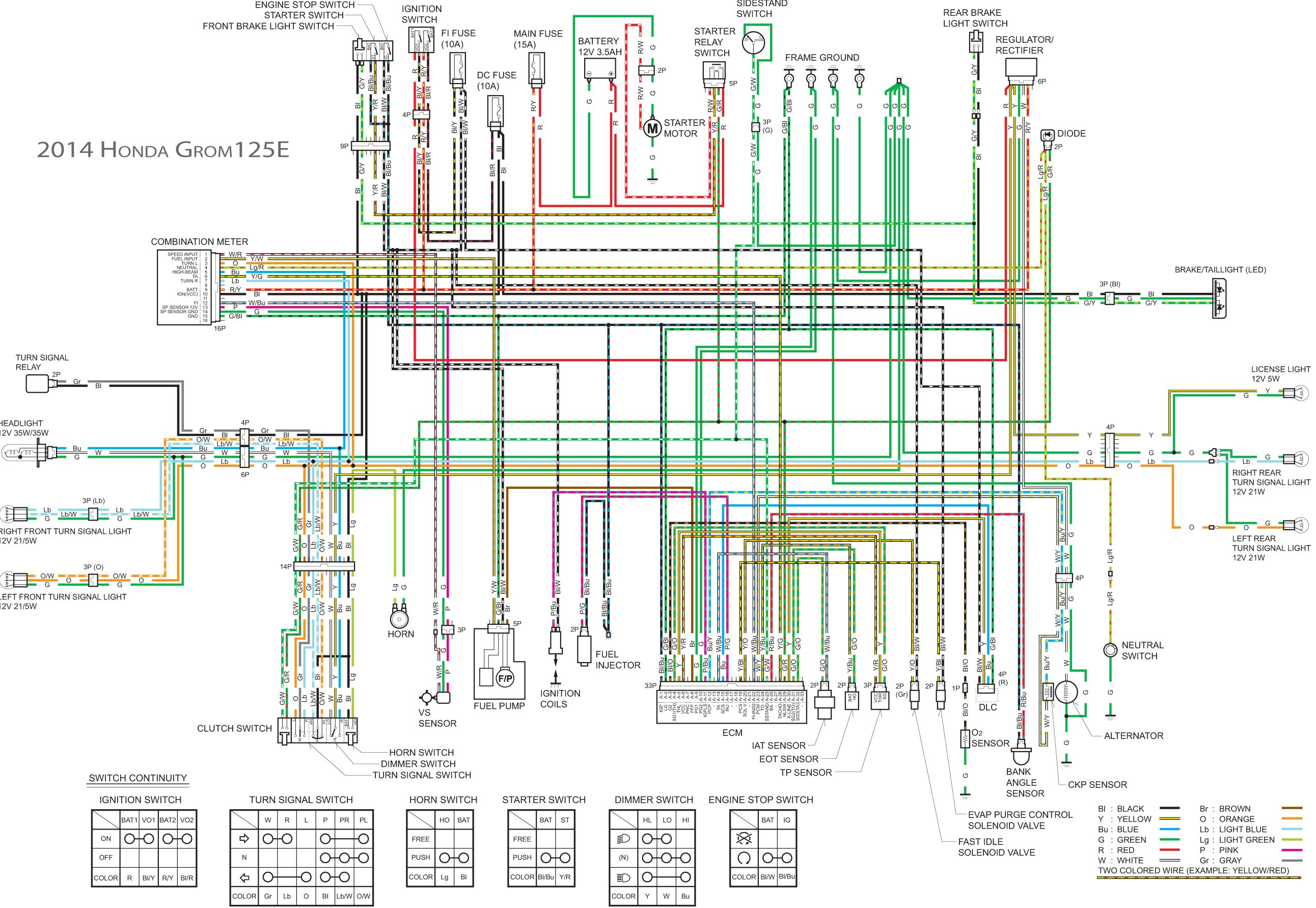 1974 ct70 wiring diagram a double switch honda grom engine | get free image about