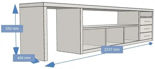 meuble tv sur mesure pour 5 1 klipsch