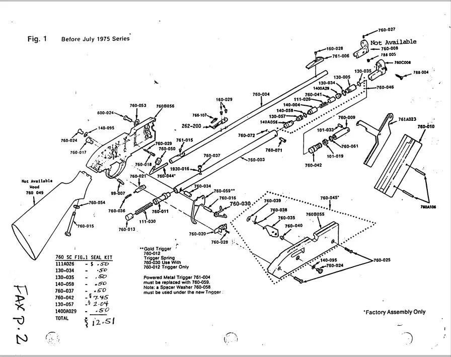 Assembly Crosman 760 Pumpmaster Parts Diagram