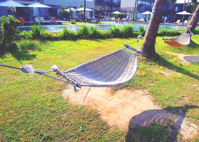 A hammock in the garden, reminds me of summers in the province