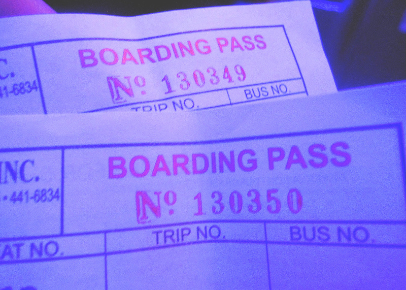 Our boarding pass