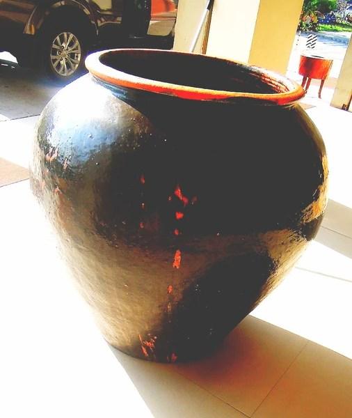 Giant terracotta jar