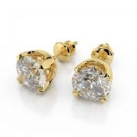Stunning 1/2 Cts Round Brilliant Cut Natural Diamonds Stud ...
