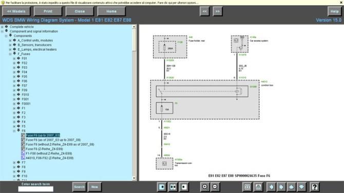 wds bmw wiring diagram system 09 2007  standalone wiring