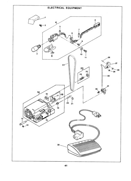 Illustrated Parts Manual, CD in PDF Format for Singer 1411