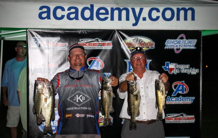 1st and Big Bass - Donnie Oneal and Mike Cearly - 14.58 lbs - $255