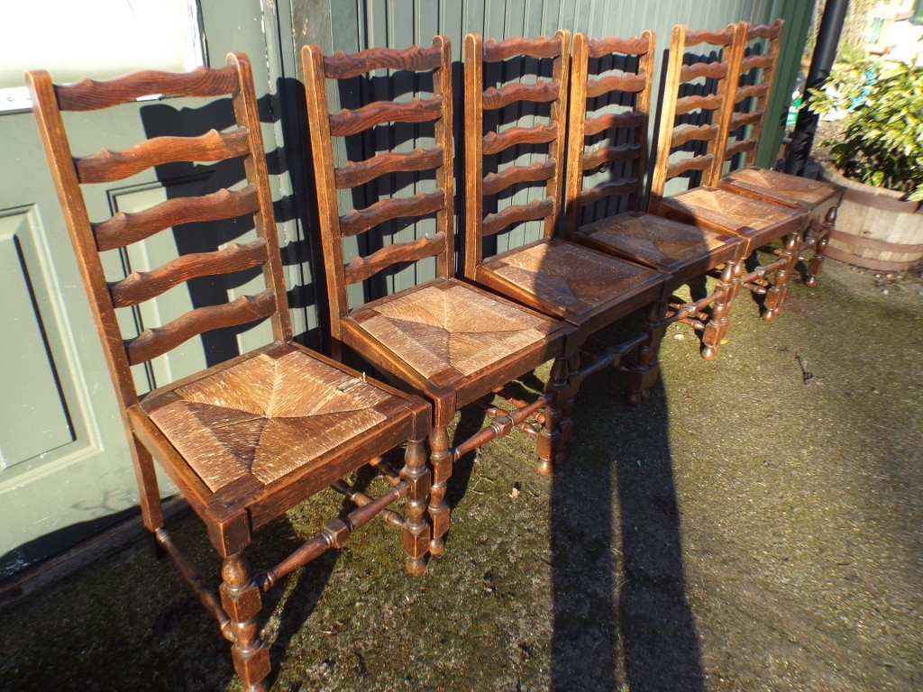 antique ladder back chairs uk chair cover rentals kelowna set of six lancashire ladderback dining