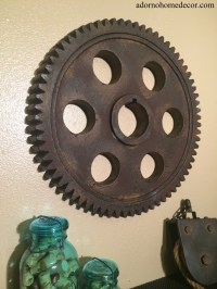 Metal Gear Wall Art Industrial Antique Vintage Chic Modern