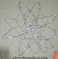 Crystal Metal Wall Art Plaque Modern Rustic Chic Accent ...