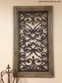 Large Metal Wood Wall Panel Antique Vintage Rustic Chic ...