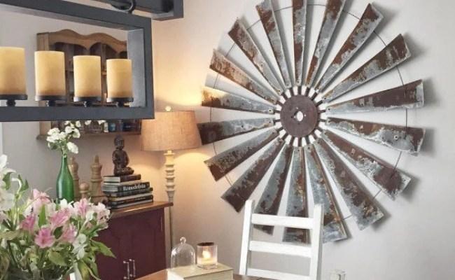 48 Rustic Metal Windmill Head Fan Antique Barn Farmhouse