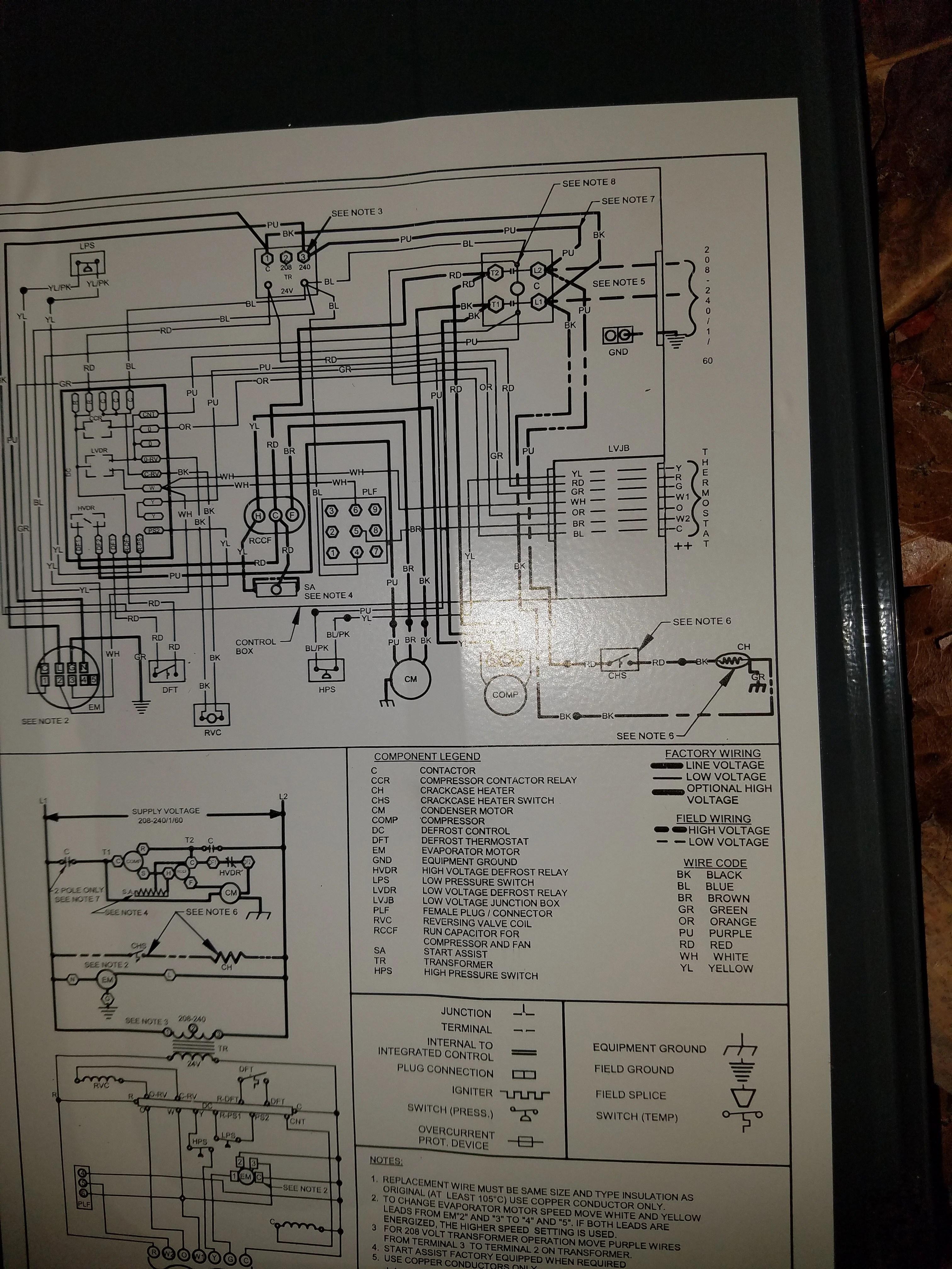 goodman package heat pump wiring diagram gmc sierra trailer need help unit gph1442 to hunter