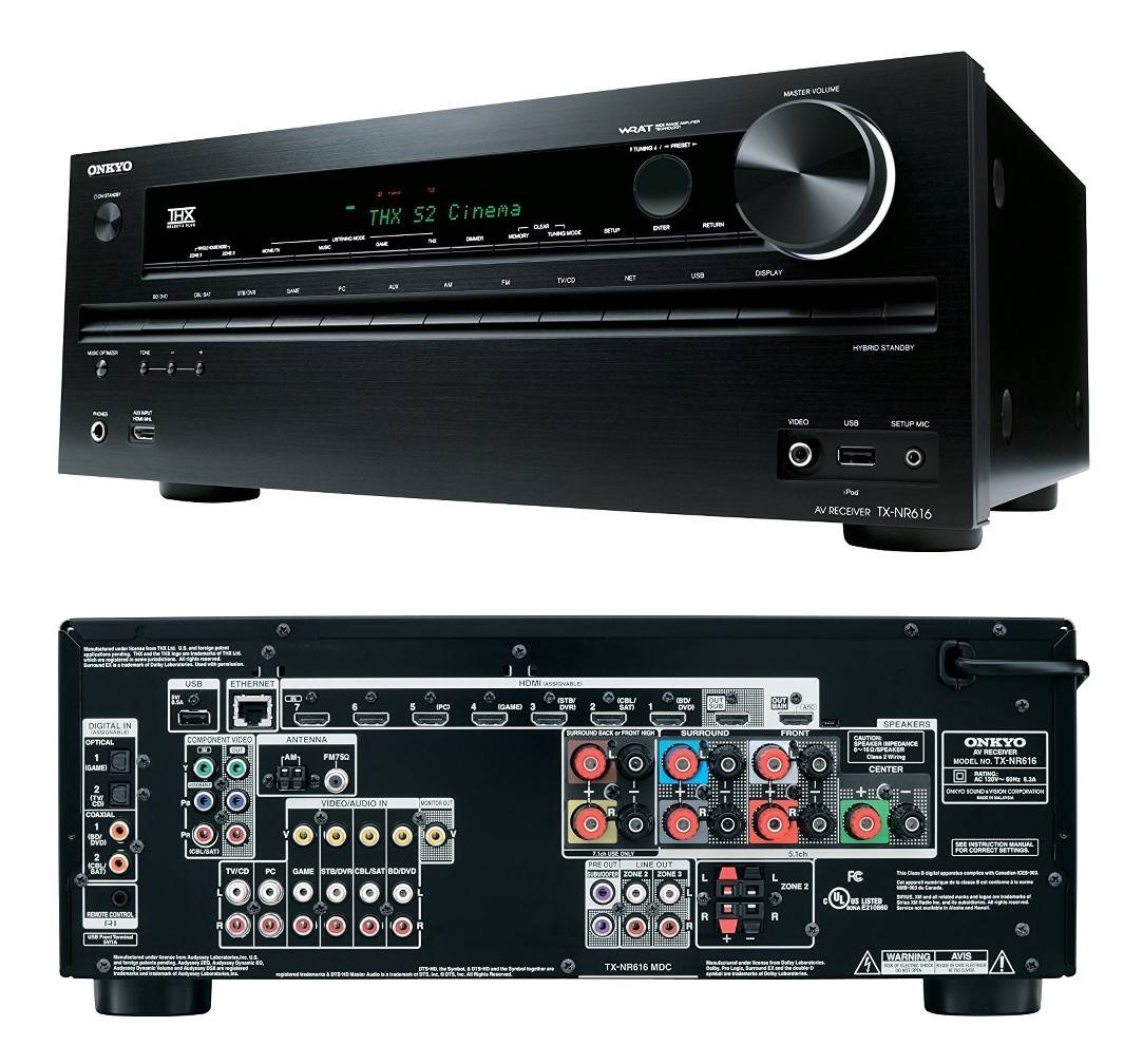 hight resolution of details about onkyo tx nr616 7 2 3d home cinema av network receiver 10x hdmi thx dolby true hd