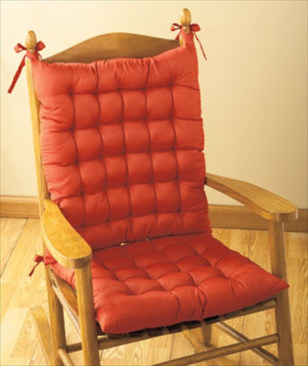 rocking chair seat replacement how to lift a trick rocker cushions kitchen tie back indoor porch pad | ebay