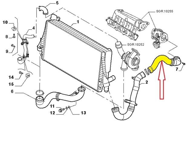 FIAT CROMA 1.9 JTD MULTIJET 120-150 HP TUBO MANICOTTO