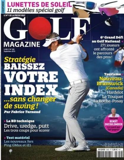 Golf Magazine – Septembre 2015