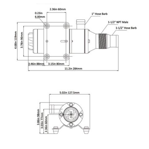 SEAFLO Macerator Waste Pump 12V DC Marine Replace Jabsco