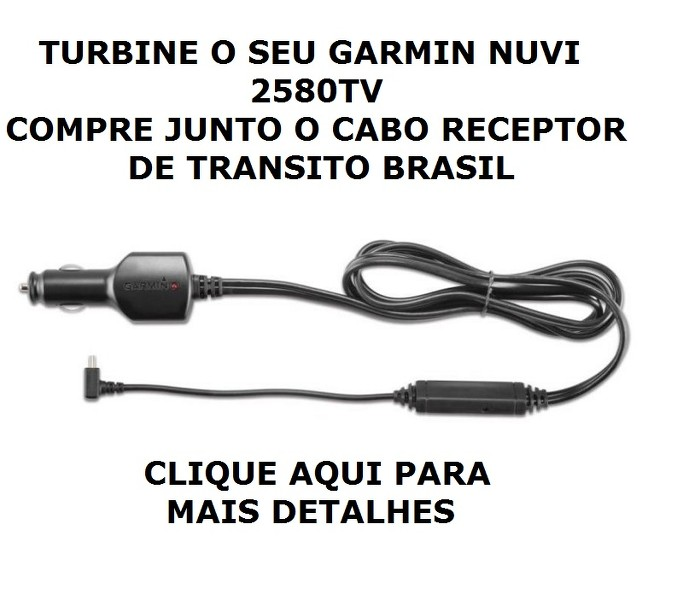 Gps Garmin Nuvi 2580TV Tv digital Bluetooth tela 5 Radares