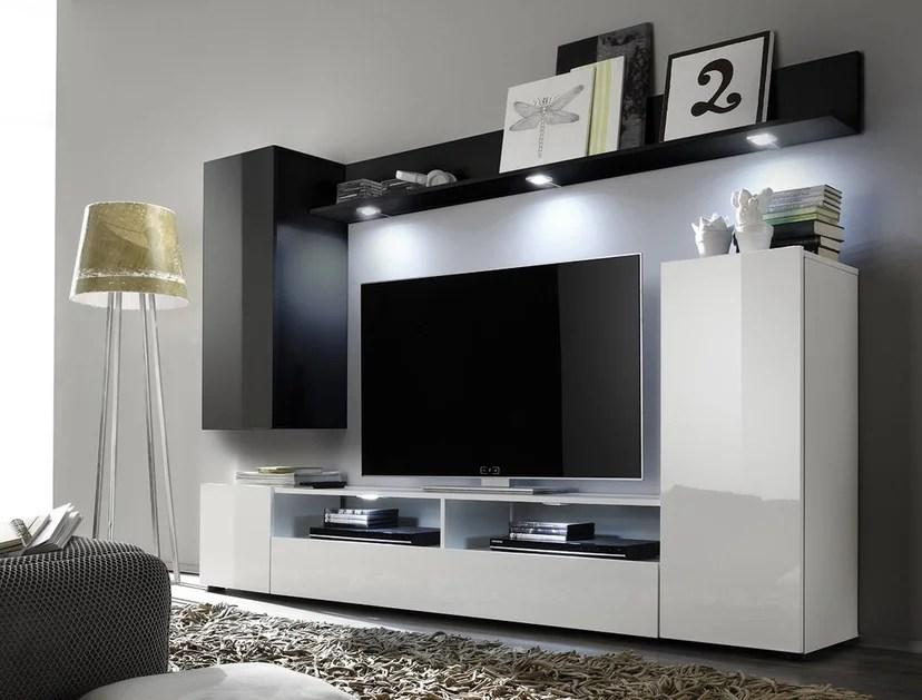 Soggiorno moderno Teseo composizione mobile porta tv con